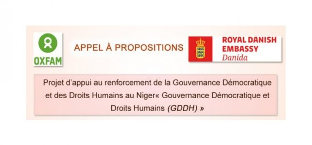 Appel à Projets Gouvernance Démocratique et des Droits Humains au Niger