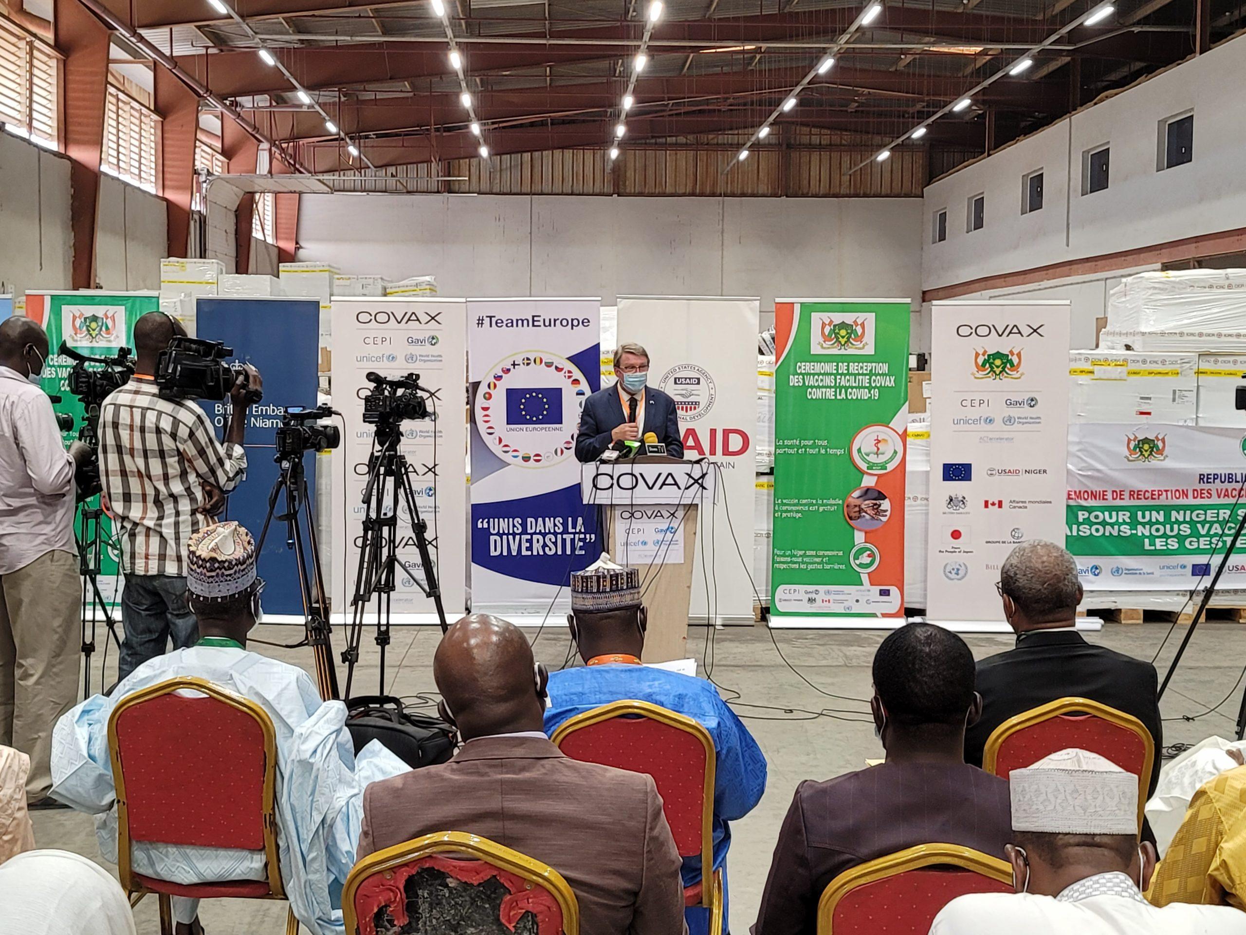 Ambassade des États-Unis d'Amérique au Niger: Remise de vaccins contre le COVID-19
